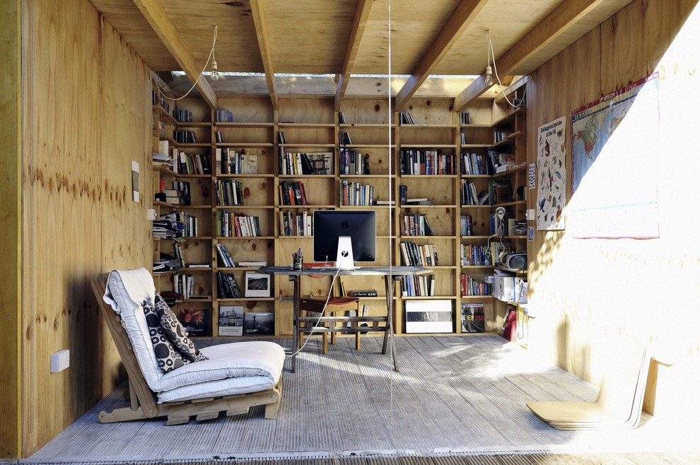 Futon Frames Garage and Shed Eclectic with None