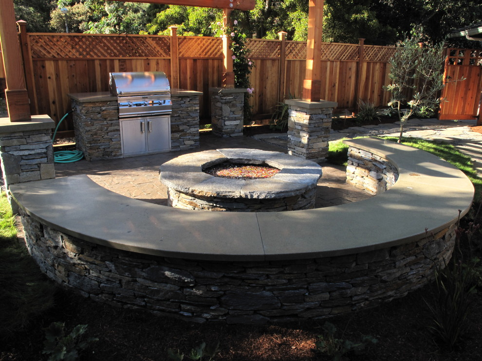 gas fire pit table Patio Craftsman with backyard retreat cast concrete fire pit concrete fire pit concrete gas fire