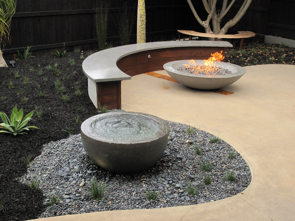 gas outdoor fire pit Patio Craftsman with backyard retreat cast concrete fire pit concrete fire pit concrete patio fire