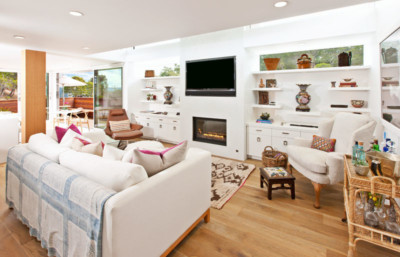 Glass Door Bookcase Living Room Modern with None