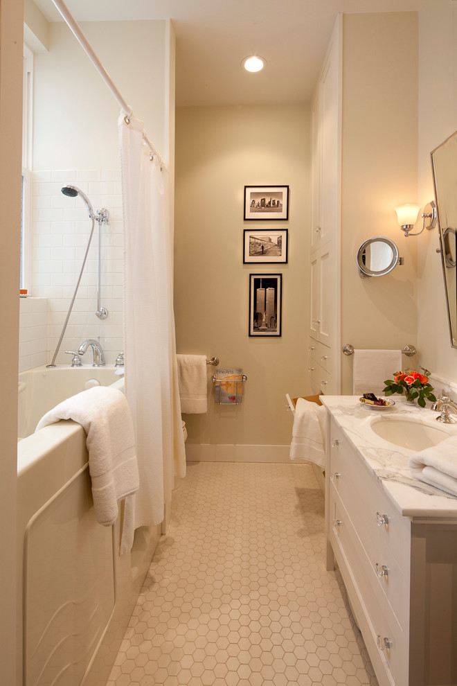 Glass Knobs and Pulls Bathroom Traditional with Accessible Bathroom Accessible Tub Bathroom Tile Beige Walls Deck Mount Tub Filler