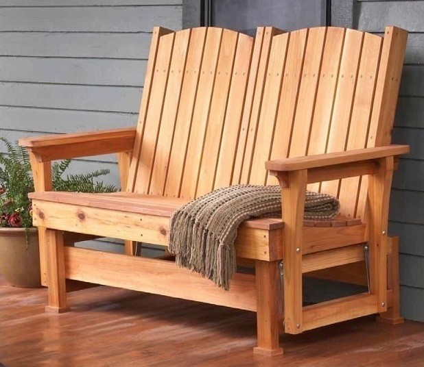 Glider Bench Spaces with Glider Bench Two Seater Two Seater Glider Bench Wood Bench Wood Patio