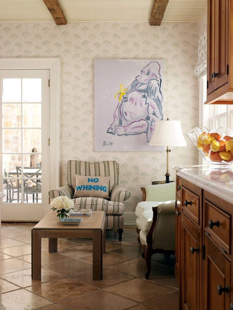 gorilla playsets Living Room Eclectic with graphic pillow Kindel Furniture Playful Art Shane Connell art tile floor Wallpaper