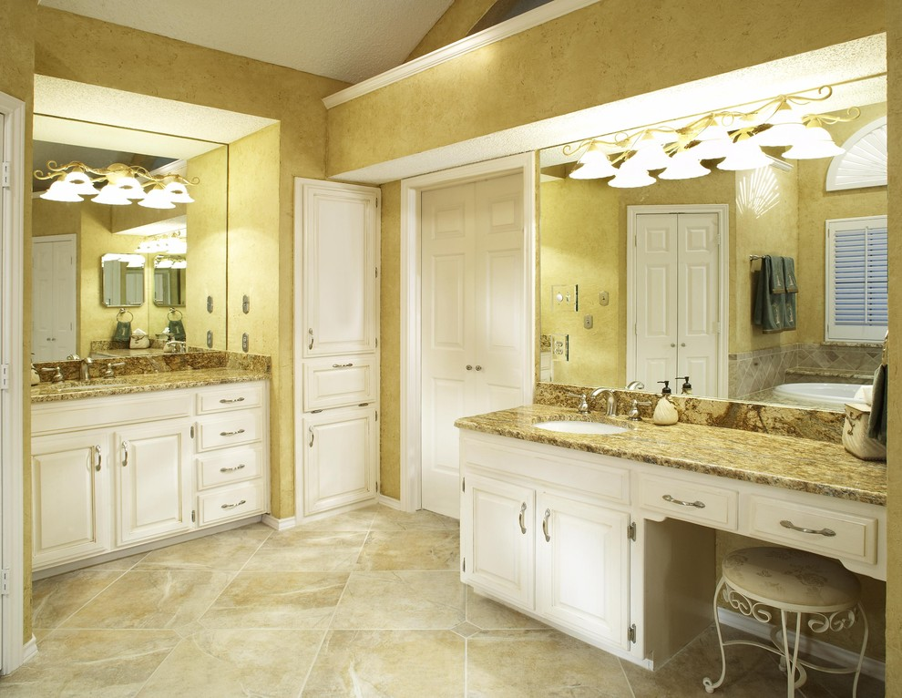 Granite Vanity Tops Bathroom Traditional with Bathroom Storage Brushed Nickel Faucets Dressing Table Faux Finish Granite Countertops Laundry1