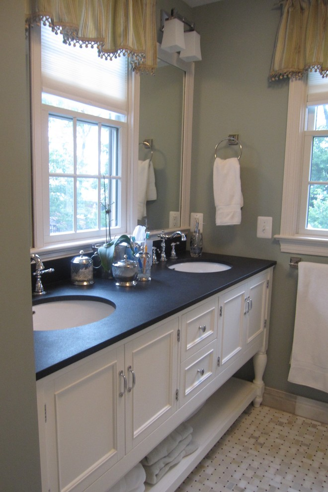 granite vanity tops Bathroom Traditional with none