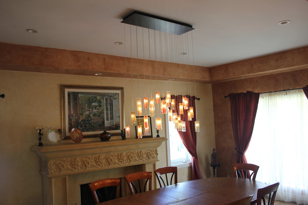 great northern popcorn Dining Room Traditional with chandelier transitional