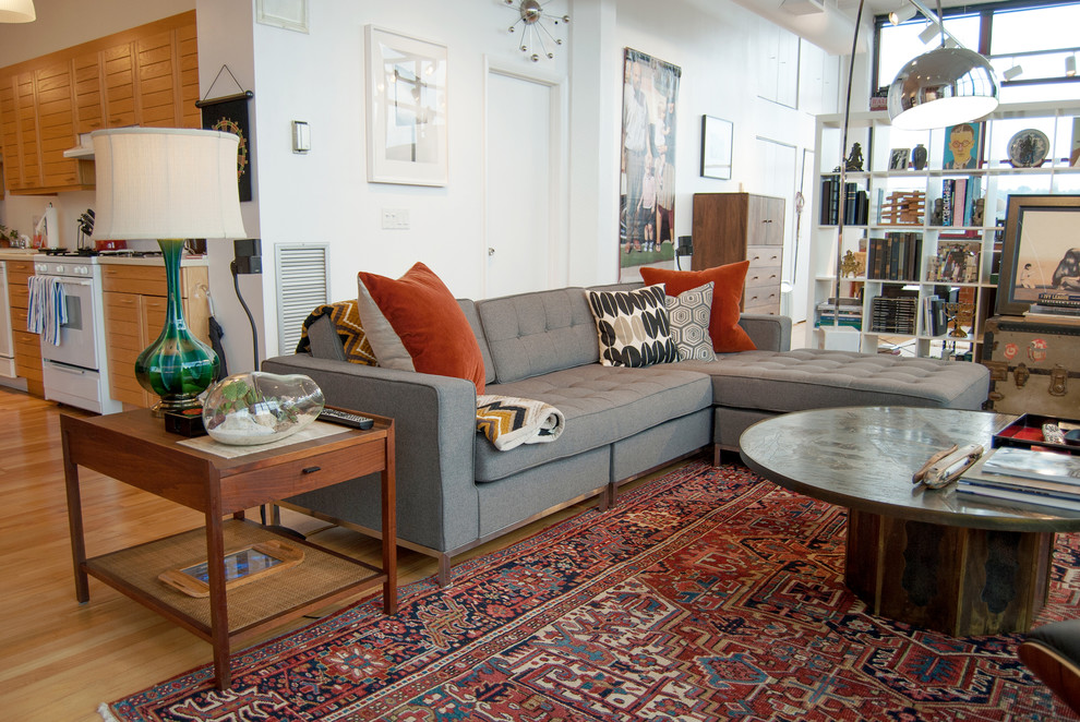 Grey Couches Living Room Industrial with Eclectic Laverne Modern Rug Sectional Vintage