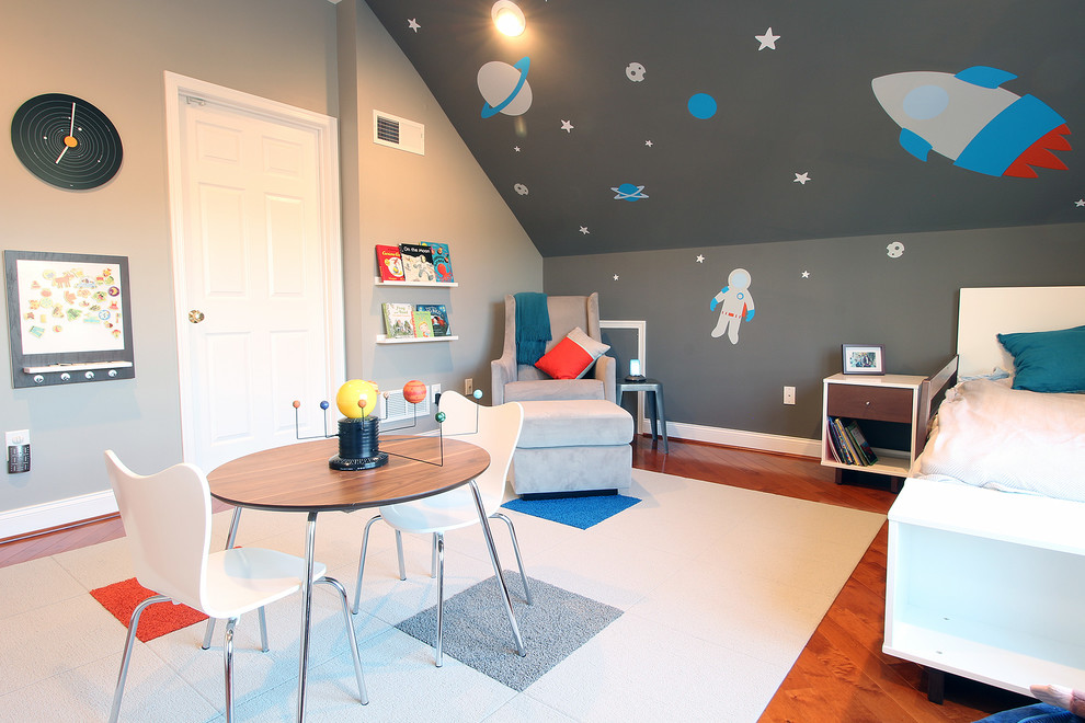 Grey Glider Kids Contemporary with Astronaut Bins Blue Book Ledge Carpet Tiles Contemporary Decals Flor Tiles Gray