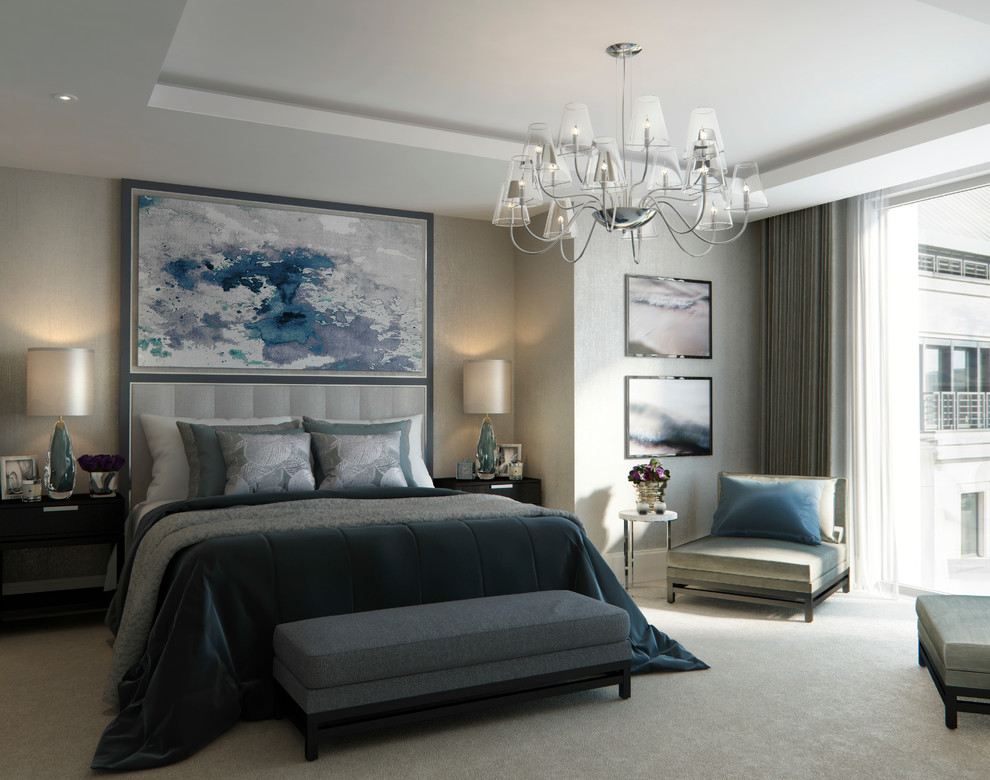 grey upholstered bed Bedroom Contemporary with bedroom chandelier bespoke black and grey bedroom chandelier contemporary cool boy bedroom