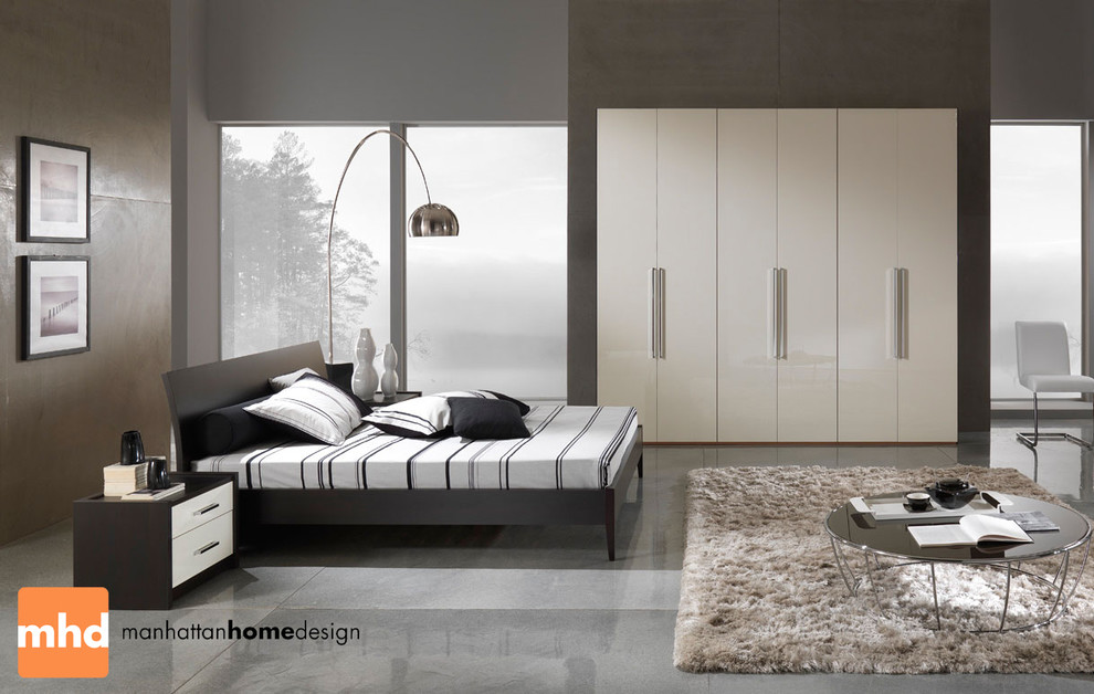 Grey Upholstered Bed Bedroom Modern with Adult Apartment Bedroom Chair Chairs Contemporary Couch Furniture Home House Interior Lamp