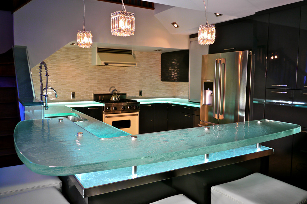 Hammock Chair Kitchen Modern with Glass Kitchen Countertop Glass Raised Bar Modern Kitchen Thick Glass Thickglass