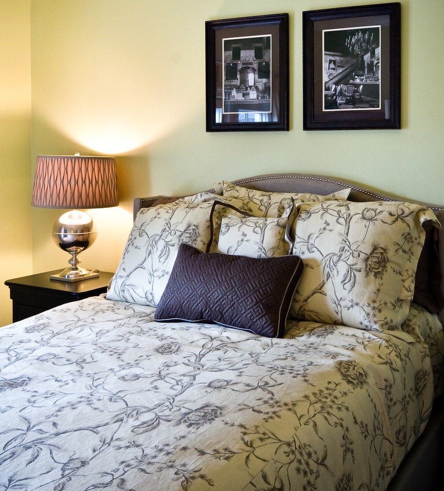 Hampton Hill Bedding Bedroom Traditional with Bedroom Bedside Table Brown Calm Floral Floral Bedding Lamp Linen Bedding Luxury