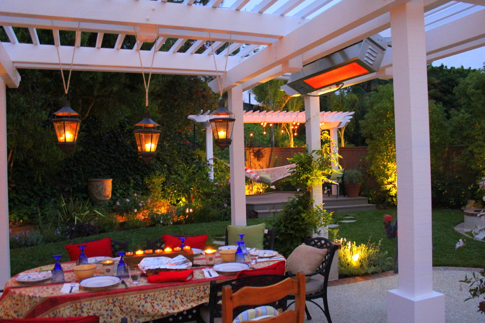 Hanging Candle Lanterns Patio Traditional with Arbor Blue California Style Casual Landscape Lighting Lighting Lights Outdoor Dining Outdoor