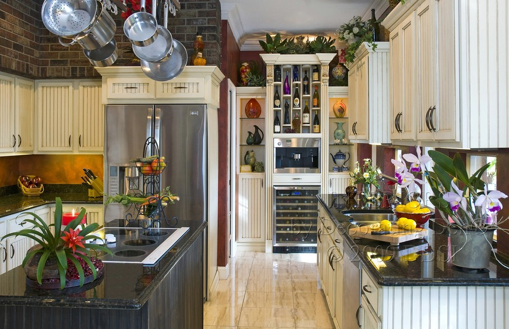 hansgrohe kitchen faucets Kitchen Traditional with apron front sink bathroom Bedroom black cabinets blinds brown california interior design