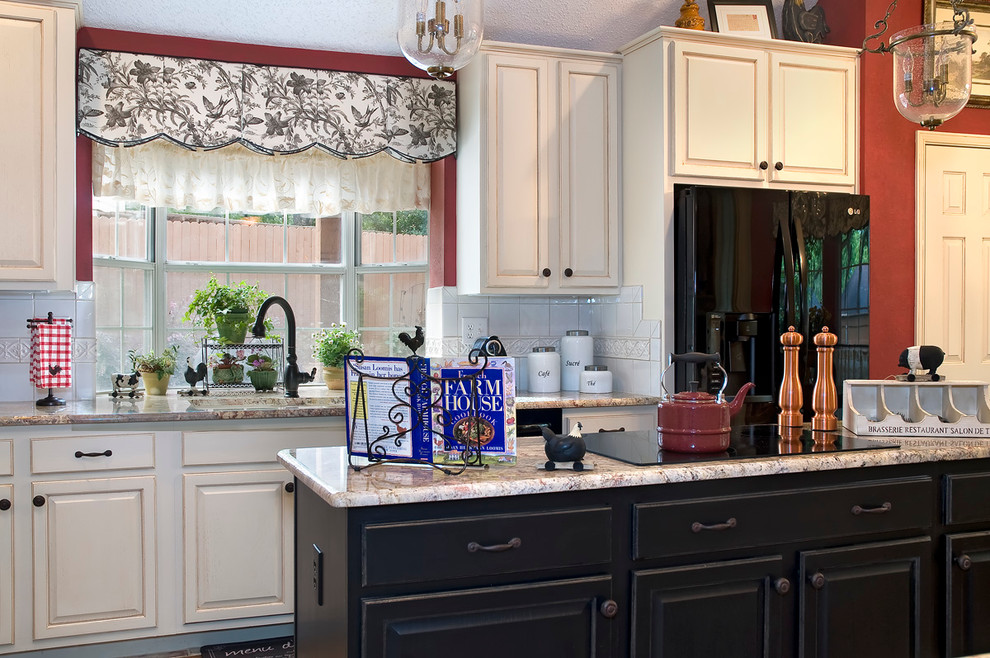 Hansgrohe Kitchen Faucets Kitchen Traditional with Apron Front Sink Bathroom Bedroom Black Cabinets Blinds California Interior Design Color