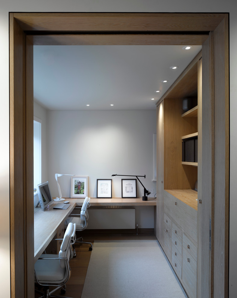 Heavy Duty Office Chairs Home Office Contemporary with Artword Built in Cabinets Built in Desk Built in Shelves Desk Lamp