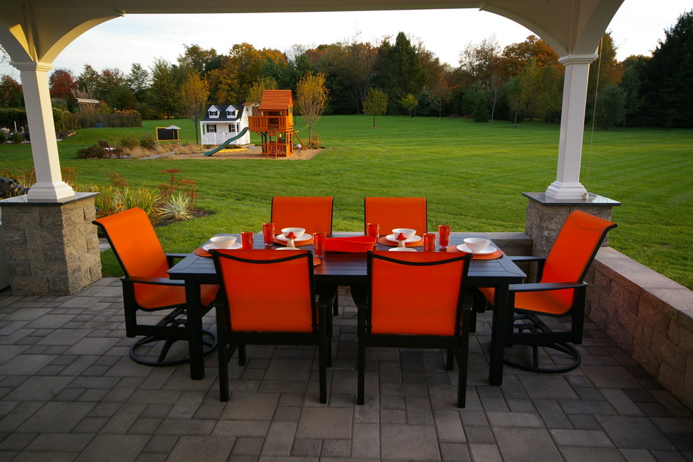henri fountains Patio Contemporary with bar seating Bucks county concrete pavers Doylestown Ep Henry fountain granite Landscape