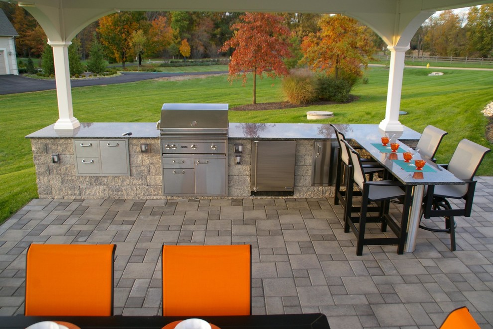 Henri Fountains Patio Contemporary with Bar Seating Bucks County Concrete Pavers Doylestown Ep Henry Fountain Granite Landscape1