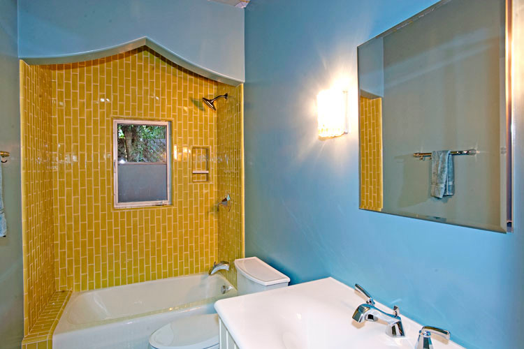 Hex Tile Bathroom Traditional with Cabinets Coffered Ceiling Kitchen Remodel