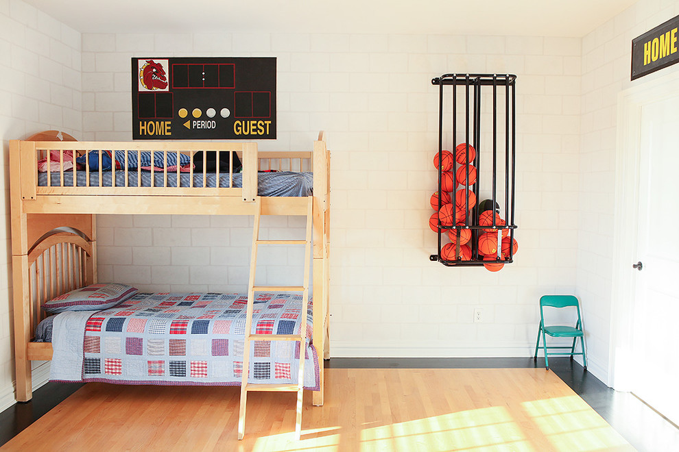 High Ball Glass Kids Contemporary with Airy Basketball Boys Room Bright Sports Bunk Bed Cmu Concrete Masonry Unit