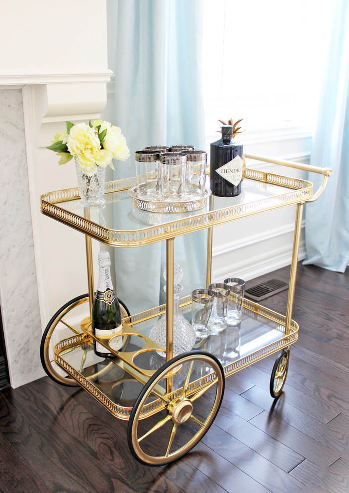 Highball Glass Spaces Contemporary with Am Dolce Vita Vintage Bar Cart Styling Brass Pineapple Ice Bucket Maison2