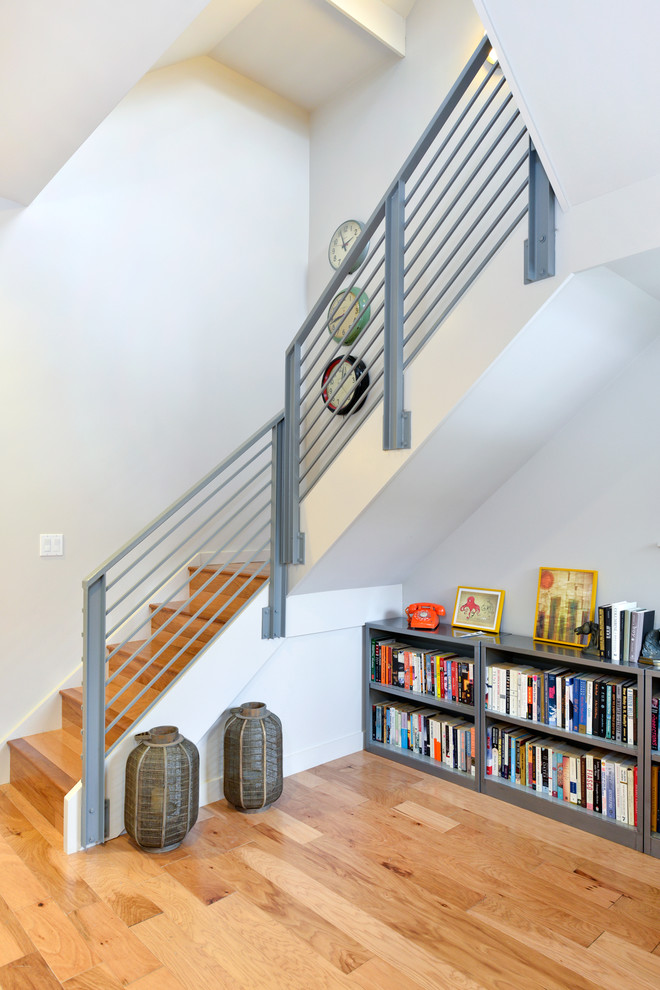 Horizontal Bookcase Staircase Contemporary with Bookcase Bookshelf Candle Lantern Clocks Horizontal Bookcase Horizontal Bookshelf Leed Metal Railing