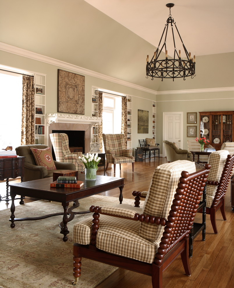 houndstooth chair Living Room Traditional with accent chairs area rug built in shelves built in storage chandelier floral
