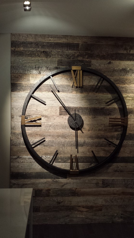 Howard Miller Wall Clock Hall Contemporary with Art Wall Clock Clock Wall Distressed Barn Wood Ditressed Wood Howard Miller