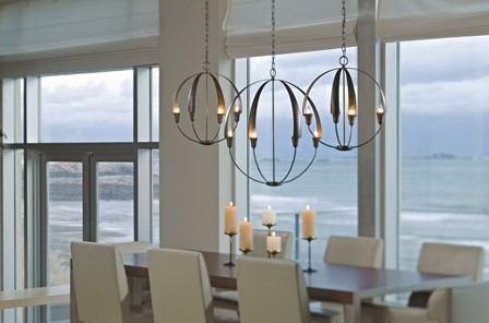 Hubbardton Forge Dining Room Contemporary with Chandelier Cirque Dining Room Hubbardton Forge