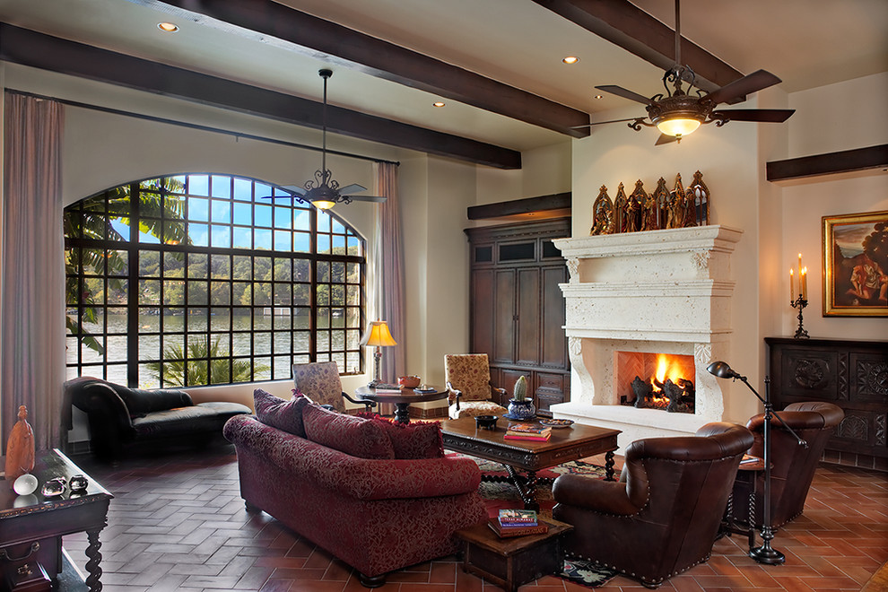 hunter fan light kit Living Room Rustic with ceiling fan ceiling lighting earth tone colors exposed beams Fireplace fireplace hearth