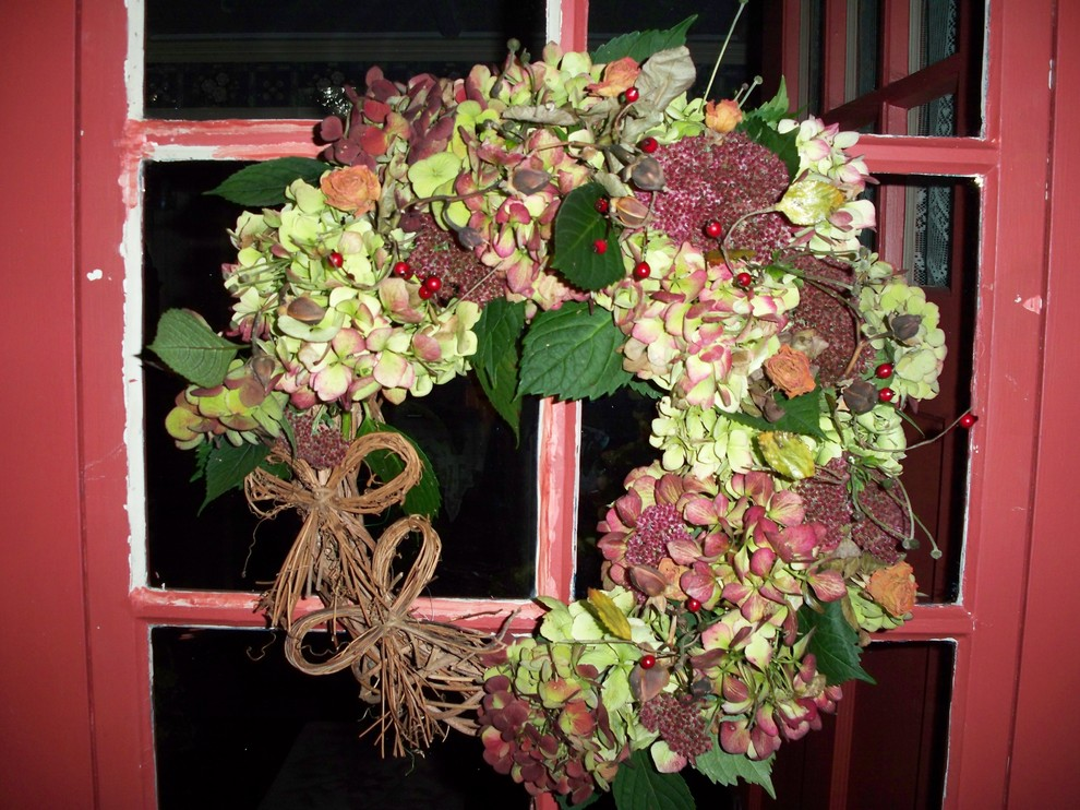 Hydrangea Wreath Spaces Eclectic with Hydrangea Wreath