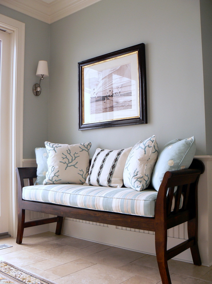 indoor bench cushions Entry Traditional with baseboards beadboard ...