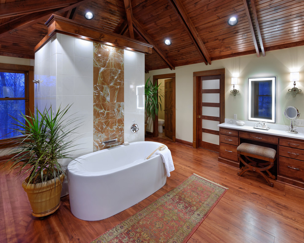 Indoor Plant Pots Bathroom Tropical with Carpet Runner High Ceiling Indoor Plants Potted Plants Wall Sconces White Countertop