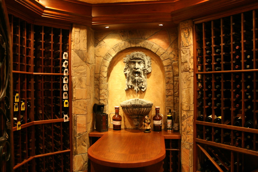 Indoor Water Fountains Wine Cellar with None