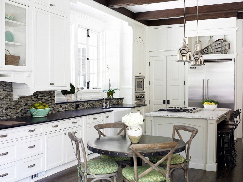 Industrial Bar Stool Kitchen Shabby Chic with Breakfast Bar Chair Cushions Dark Floor Eat in Kitchen Exposed Beams Glass