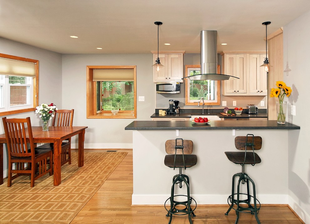 Industrial Bar Stools Kitchen Traditional with Area Rug Baseboards Breakfast Bar Breakfast Table Ceiling Lighting Eat in Kitchen