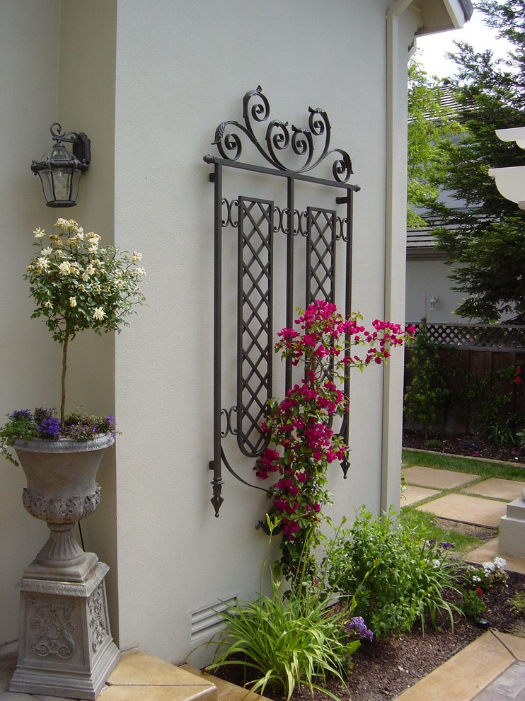 Iron Trellis Exterior Traditional with None