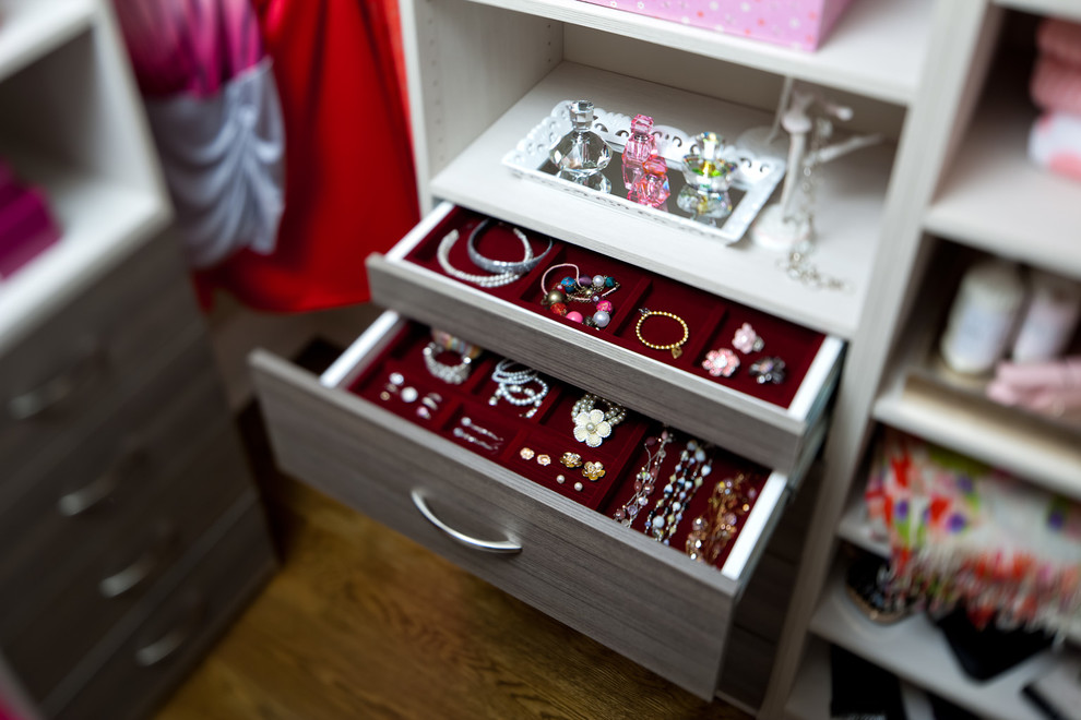 jewelry drawer organizer Closet Traditional with almond bar bench