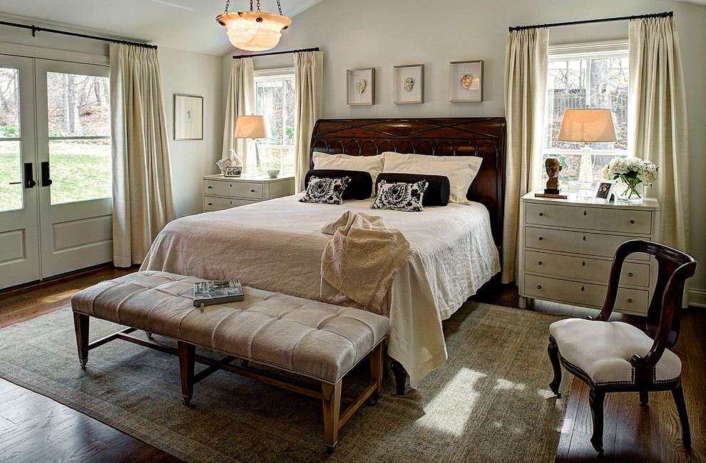 Joss and Main Rugs Bedroom Traditional with Area Rug Bedside Table Bowl Pendant Curtains Drapes French Doors Nightstand Shadow
