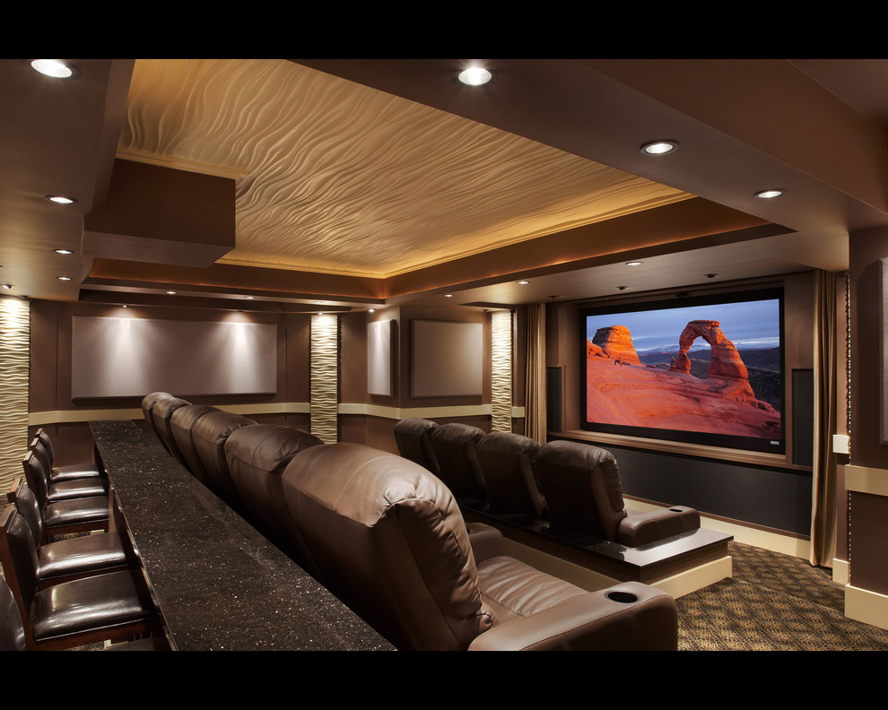 Ju Ju Be Diaper Bags Home Theater Modern with Control Crestron Custom Theater Design Digital Projection Engineering Home Automation Lighting Lighting