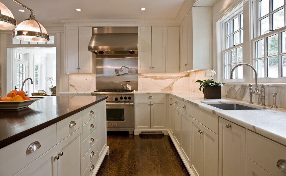 K Cup Drawer Kitchen Traditional with Ceiling Lighting Crown Molding Double Hung Windows Footed Cabinets Island Lighting Kitchen