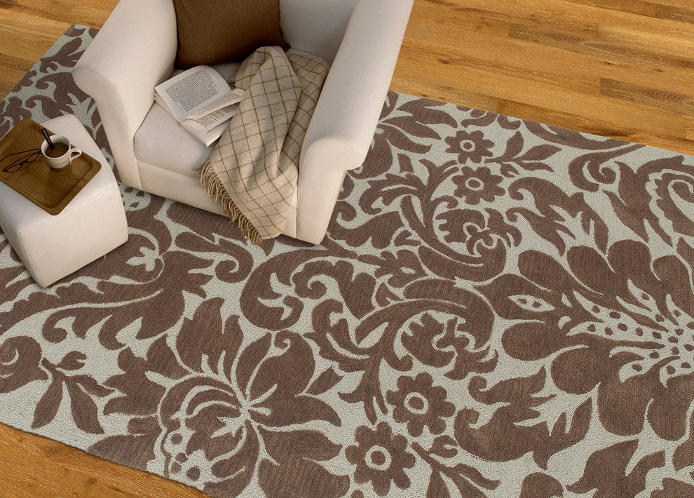 Kaleen Rugs Home Office Transitional with Area Rugs Casual Contemporary Damask Floral Rugs Geometric Hand Tufted Rugs Handmade
