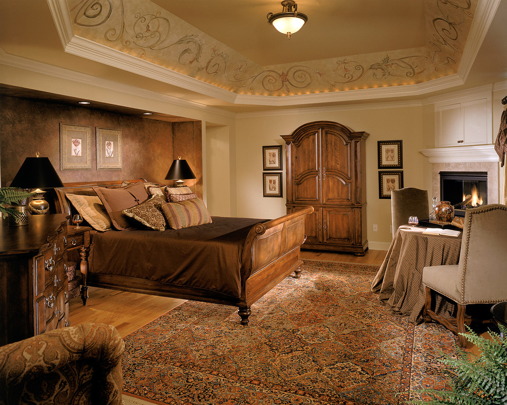 Karastan Rugs Bedroom Traditional with Accent Wall Area Rug Armoire Brown Duvet Brown Wall Ceiling Lighting Crown