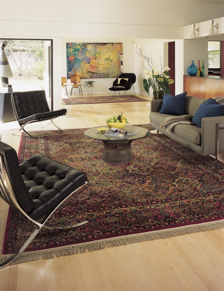 karastan rugs Living Room Modern with 717 Multicolor Panel Kirman