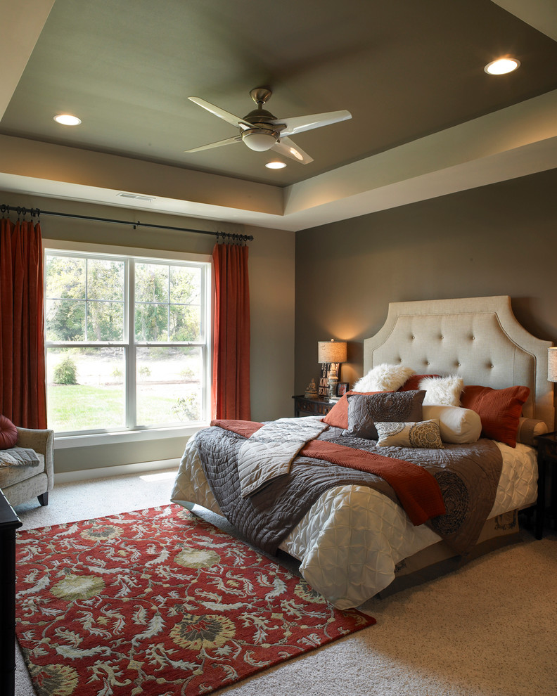Kichler Ceiling Fans Bedroom Transitional with Accent Chair Accent Rug Accent Wall Bedroom Bedroom Design Bedroom Furniture Bedroom
