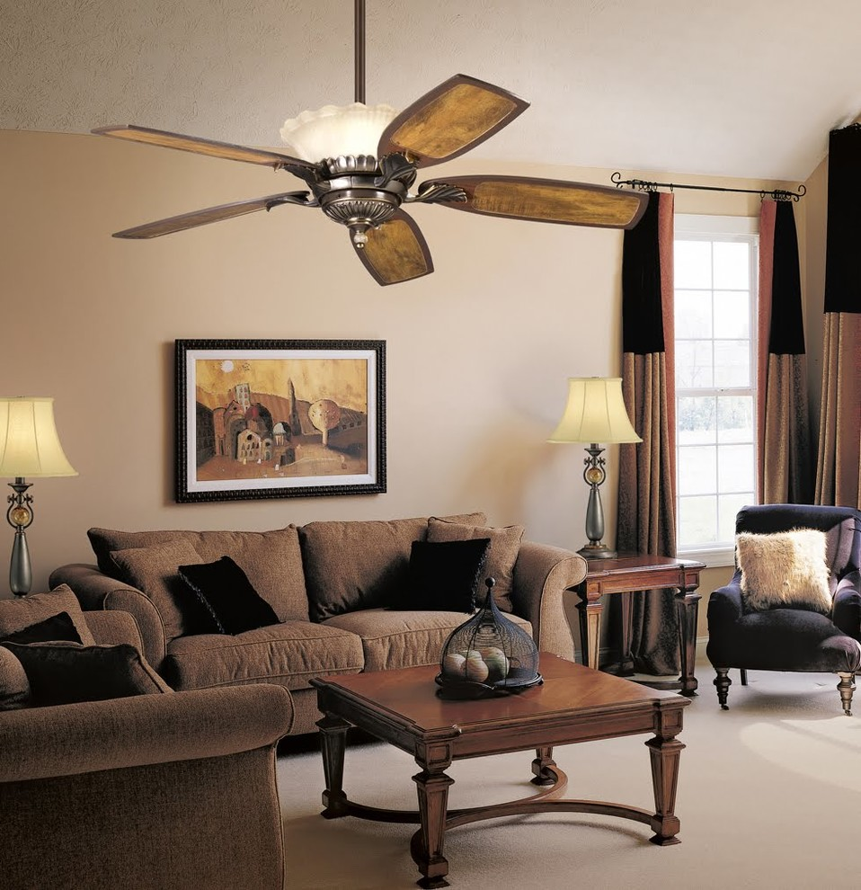 kichler ceiling fans Living Room Traditional with 52 fan ceiling fan indoor fan Kichler kichler ceiling fan Kichler Lighting