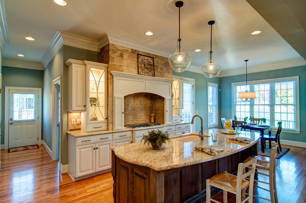 Kichler Lighting Kitchen Traditional with Award Winning Parade of Homes Beautiful New Kitchen Blue Wall Cabinet Lighting
