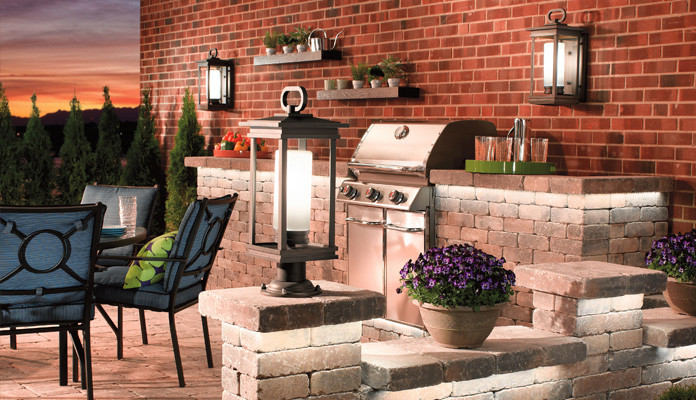 kichler outdoor lighting Spaces with none