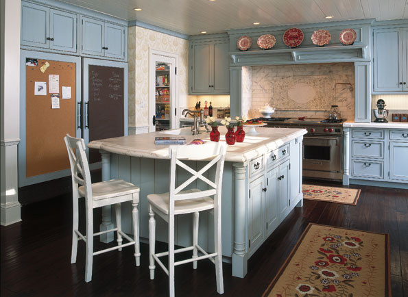 Kidcraft Kitchen Kitchen Traditional with Blue Kitchens Calcutta Gold Marble Chalkboard Panels Connecticut Farmhouse Corkboard Panels Country
