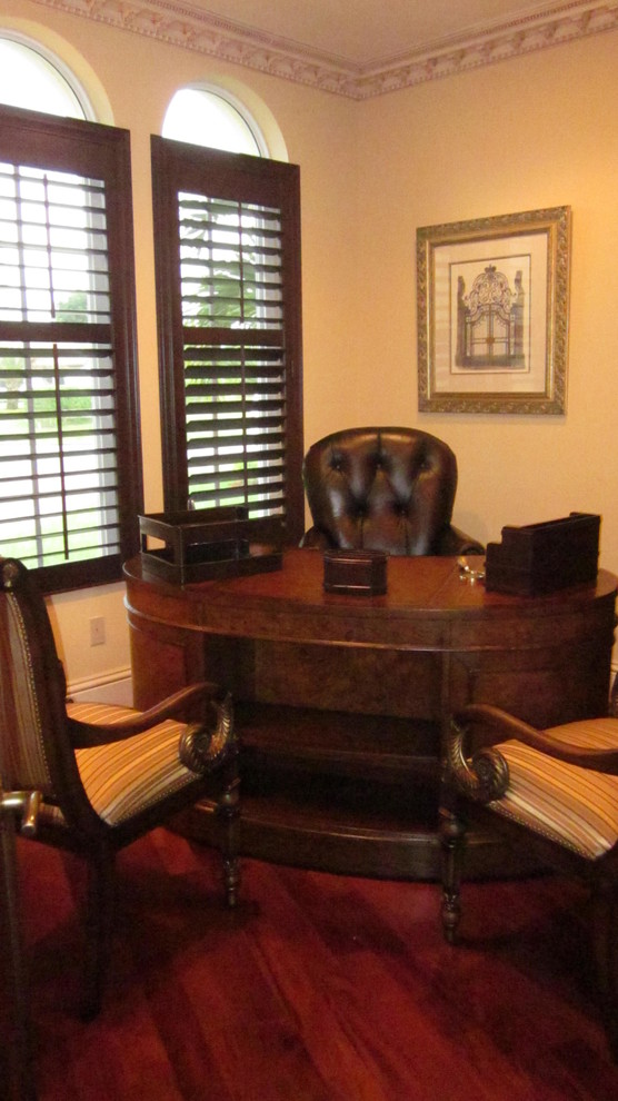 Kidney Shaped Desk Home Office Traditional with Classic Design Kidney Shaped Desk Shutters Wood Floor